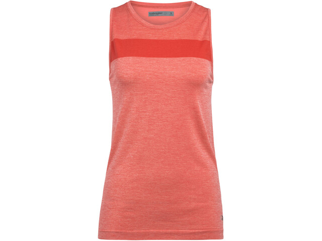 Icebreaker Motion Seamless Tank Top Women fire heather